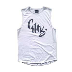 white CMB Apparel ABC euro curve singlet