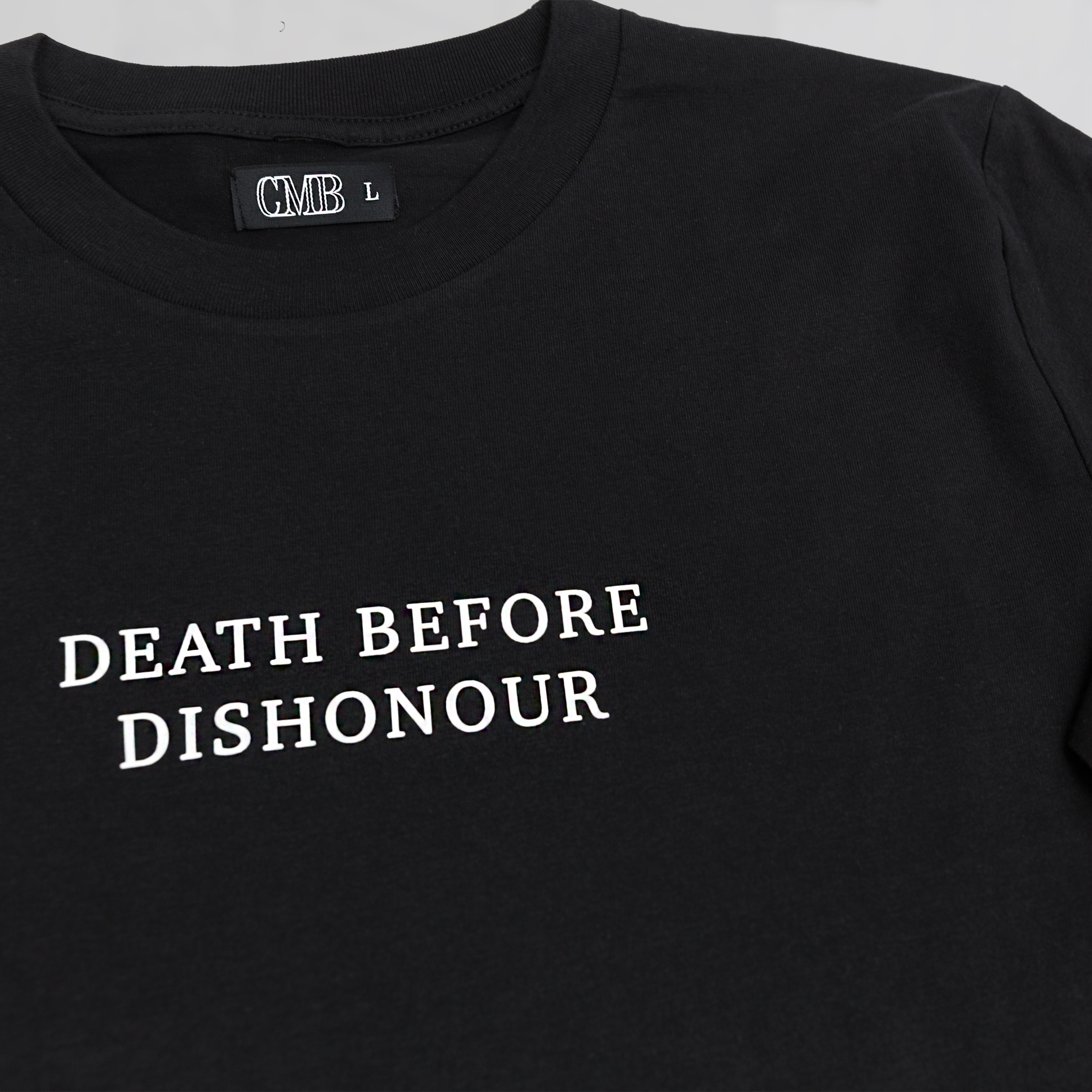 cmbapparel death before dishonour long sleeve black mens fashion