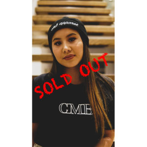 cmb apparel script beanie black embroidery