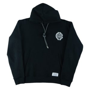 CMB black monogram hoodie front heavy weight